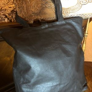 Kenneth Cole black leather tote